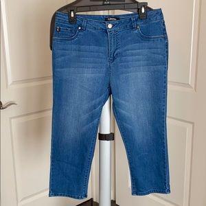 d.jeans capris length size 10